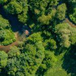 photo par drone dans le 68 nature riviere